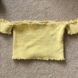 Yellow Pacsun Crop Top